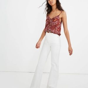 NWT] Madewell Button Down Cami in Floral Burgundy